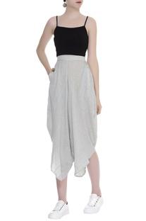 Dhoti Style Asymmetric Pants