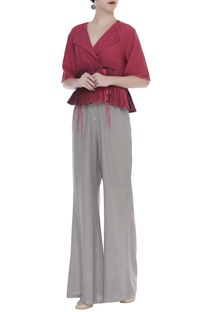 Retro Style Flared Pants