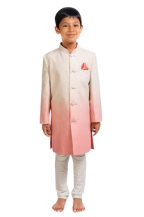 Shaded sherwani with churidar