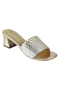 Block Heel Sliders sandal