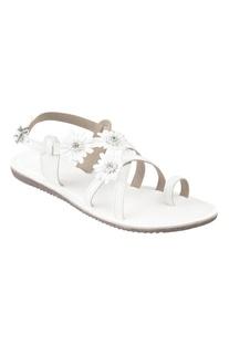 Flower Embellished Strap Sandals