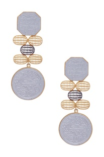 Scripted Dangler Earrings