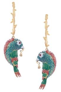 Parrot Handcrafted Dangler Earrings