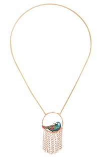 Bird In The Ring Long Necklace