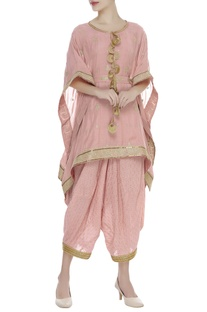 Zari embroidered asymmetric kurta set