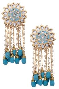 Earrings with bead strings