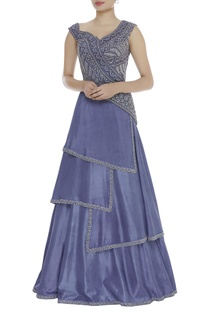 Bead & Cutdana Embroidered Gown