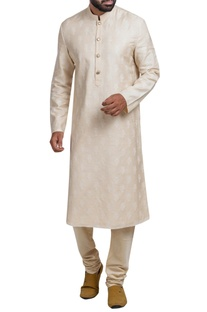 Embroidered kurta churidar set