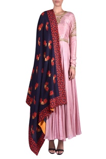 Embroidered anarkali kurta with dupatta