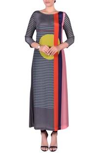 Striped print straight kurta