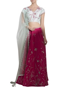 Sequin Embroidered Lehenga Set