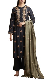 Kurta and Palazzo Set with Floral Motifs