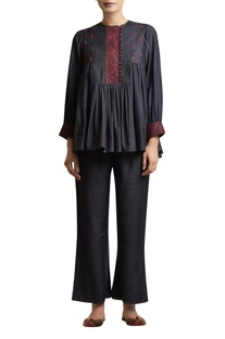 Gather Top with Dori Embroidered Yoke
