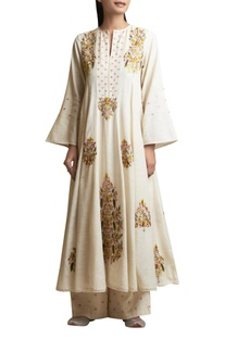 Kurta & Palazzo with Floral Embroidery