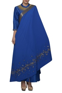 Sequin Embroidered Shirt tunic & dupatta