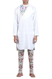Printed & flap detail kurta