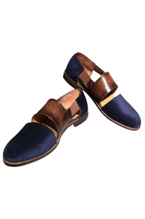 Dual Toned Cutout Loafers