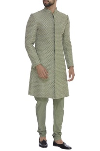 Resham Booti Embroidered Sherwani Set