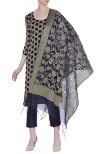 Hand-woven chanderi cotton kurta set