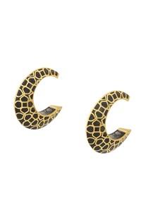 Futuristic statement hoop earrings