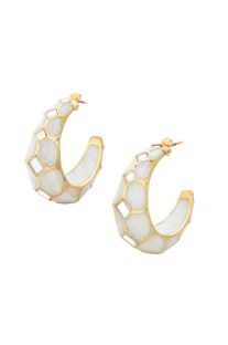 Celeste mirror hoop earrings