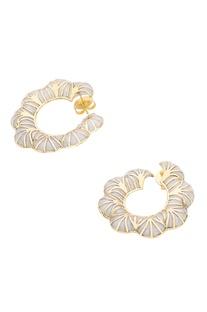 Orange peel hoop earrings