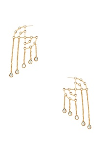 Long mirror hoop earrings