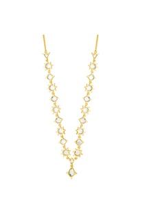 Mirror detail necklace & headgear