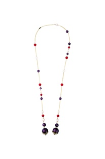 Empress warrior pearl lariat necklace