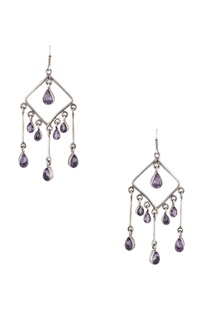 Embellished dangling evening wear earrings