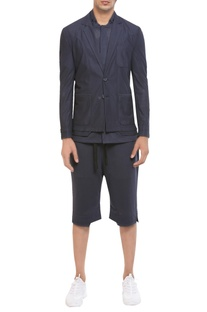 Mesh street fashion jacket set