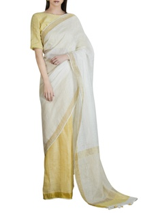 Chanderi check saree with blouse
