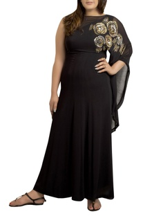 Maxi dress with sequins hand embroidery