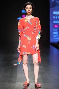 Kite printed kaftan dress