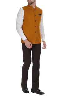 Bandi jacket with geometric buttons.