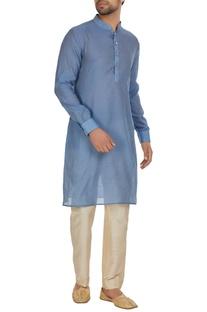 Chanderi silk kurta with pants.