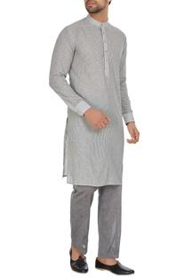 Linen stripes kurta with pants