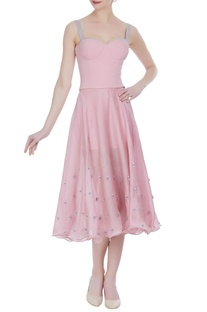 Ice-cream hued organza skirt with corset