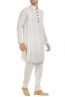 Matka silk draped kurta set