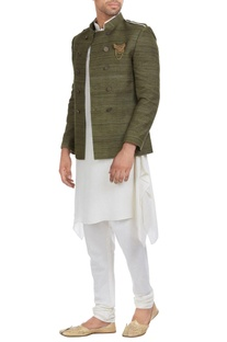 Matka silk jodhpuri jacket set