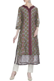 Double layer printed kurti