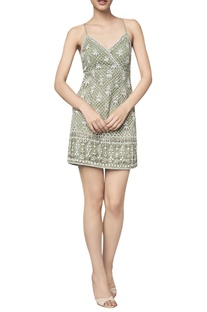 Slip dress in gota patti & dori embroidery