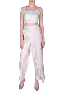 Khadi bustier & wrap style pants