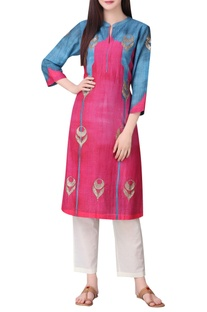Dual color mughal inspired tunic