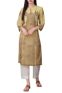 Mughal inspired hand embroidered sequin tunic