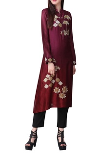 Sequins and zari embroidered tunic
