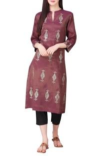 Lurex chanderi silk hand embroidered sequin tunic