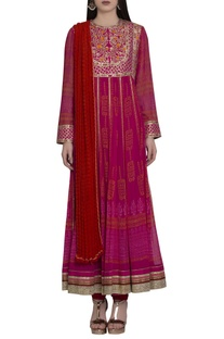 Gota embroidered anarkali set..