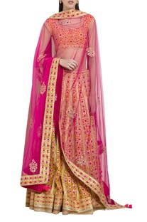 Gota & thread embroidered lehenga set