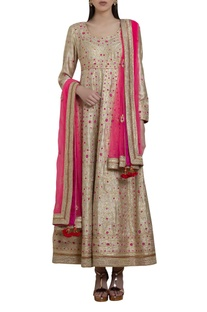 Gota thread embroidered anarkali set